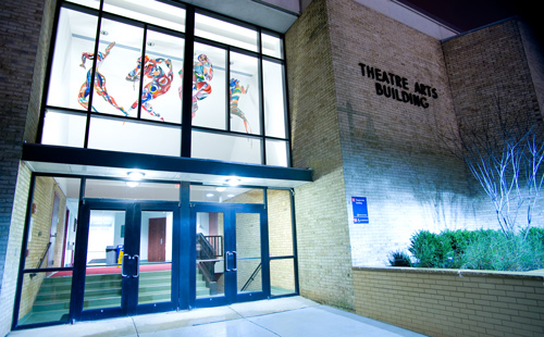 Theatre Arts building on the MC Rockville campus
