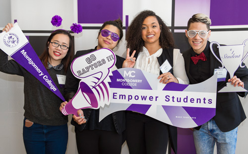 Montgomery College students at the 2018 Scholarship Luncheon.