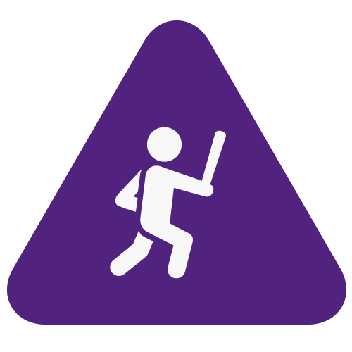 Active attacker training fight icon