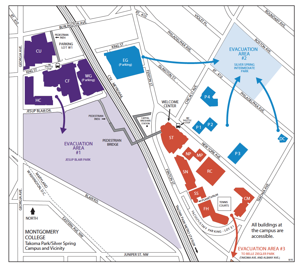 TPSS Campus Evacuation Map
