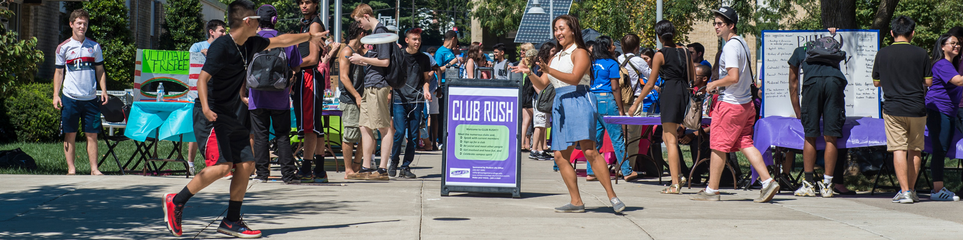 Club Rush on the Rockville campus