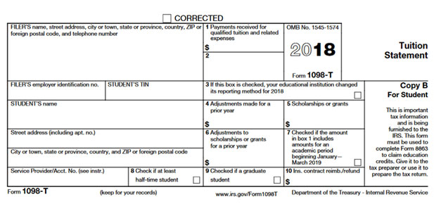 Form 1098-T changes for tax year 2018