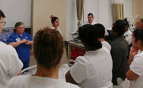 Nursing Related students in a classroom group
