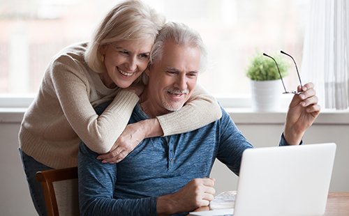 Personal Finance, a happy older couple