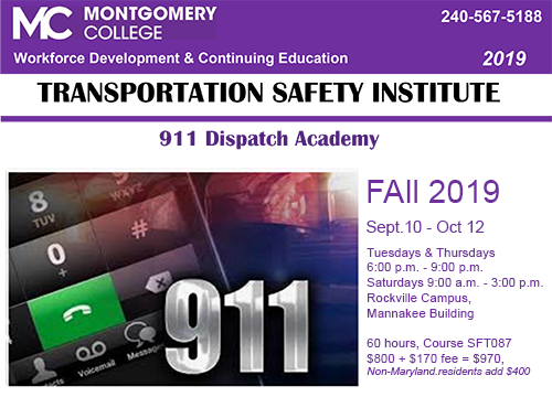 911 Dispatch Academy course Fall 2019