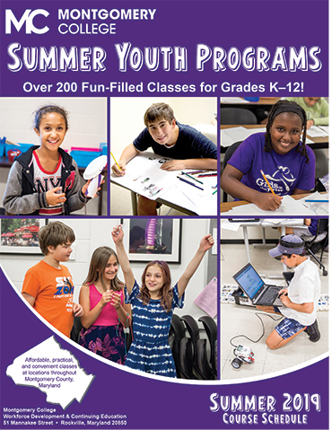 Youth Summer Camps 2019 at Montgomery College, Md